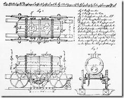Werkszeichnung des zweiten Dampfwagen der Königlichen Eisengießerei Berlin