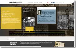 Screenshot annefrank.org